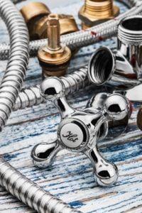 Silver tapware and fittings