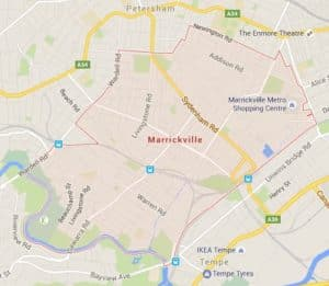 Marrickville-map