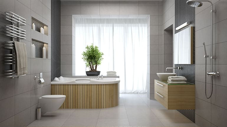 Custom designed bathroom built exactly to customer requirements